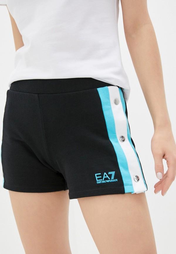 женские спортивные шорты ea7, черные