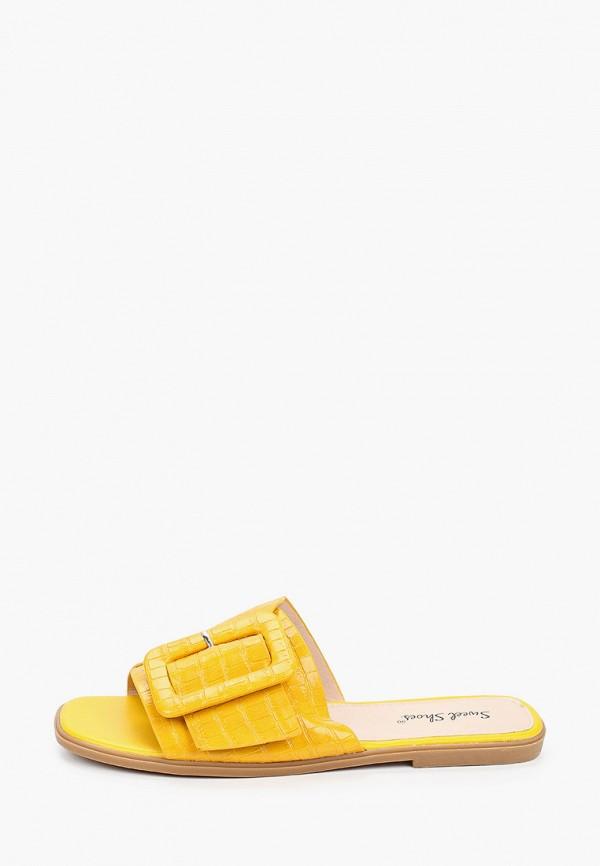 женское сабо sweet shoes, желтое