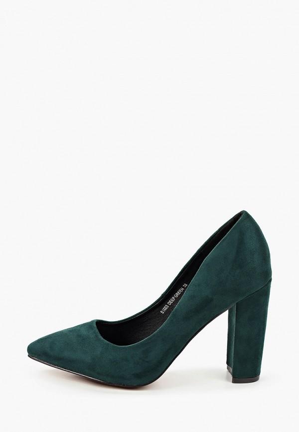 женские туфли с закрытым носом sweet shoes, зеленые