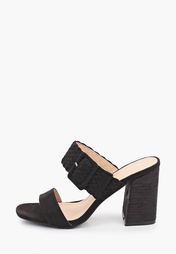 женское сабо sweet shoes, черное