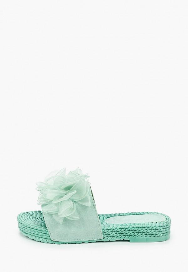женское сабо sweet shoes, бирюзовое
