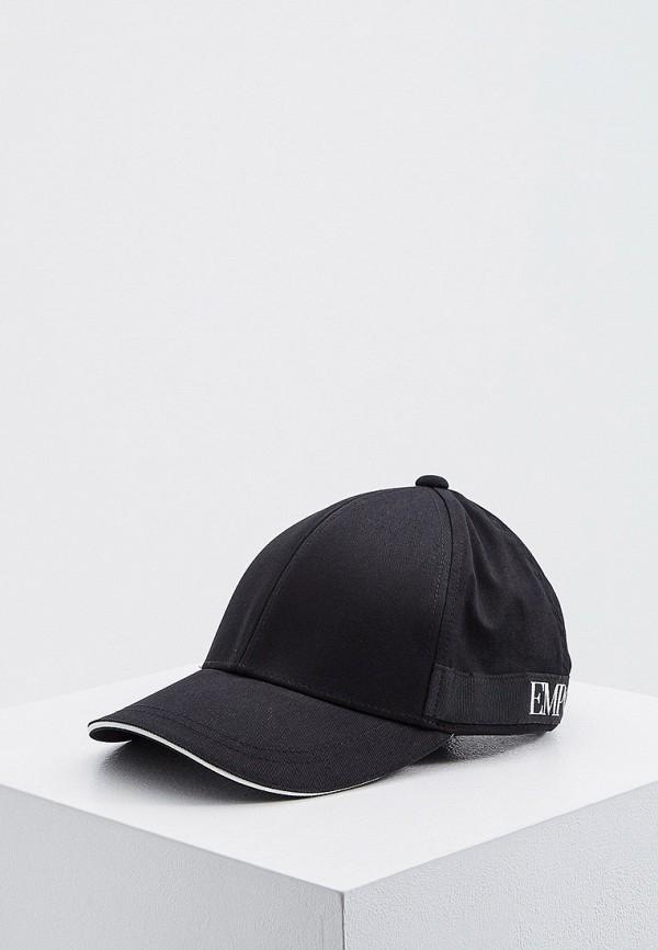 женская бейсболка emporio armani, черная