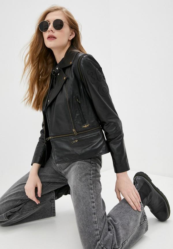 женская куртка aeronautica militare, черная