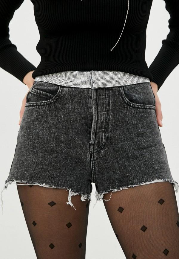 женские джинсовые шорты miss sixty, черные
