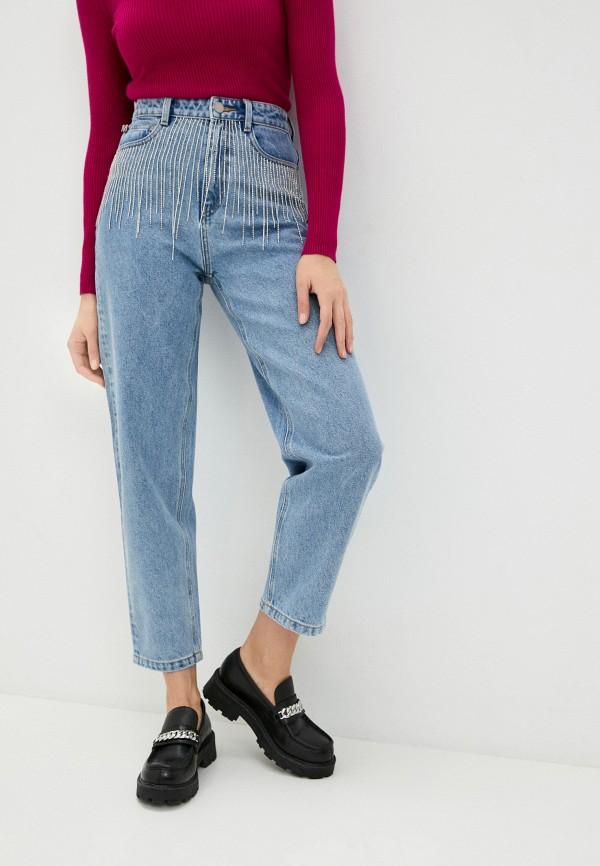 женские прямые джинсы miss sixty, голубые