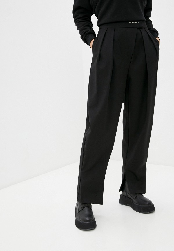 женские классические брюки miss sixty, черные
