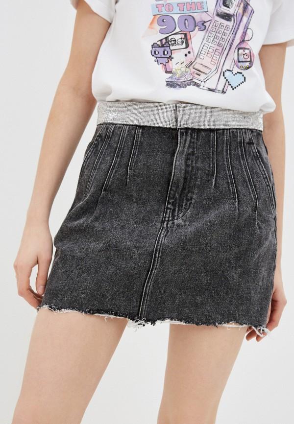 женская джинсовые юбка miss sixty, черная