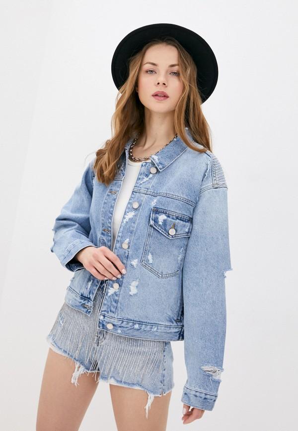 женская джинсовые куртка miss sixty, голубая