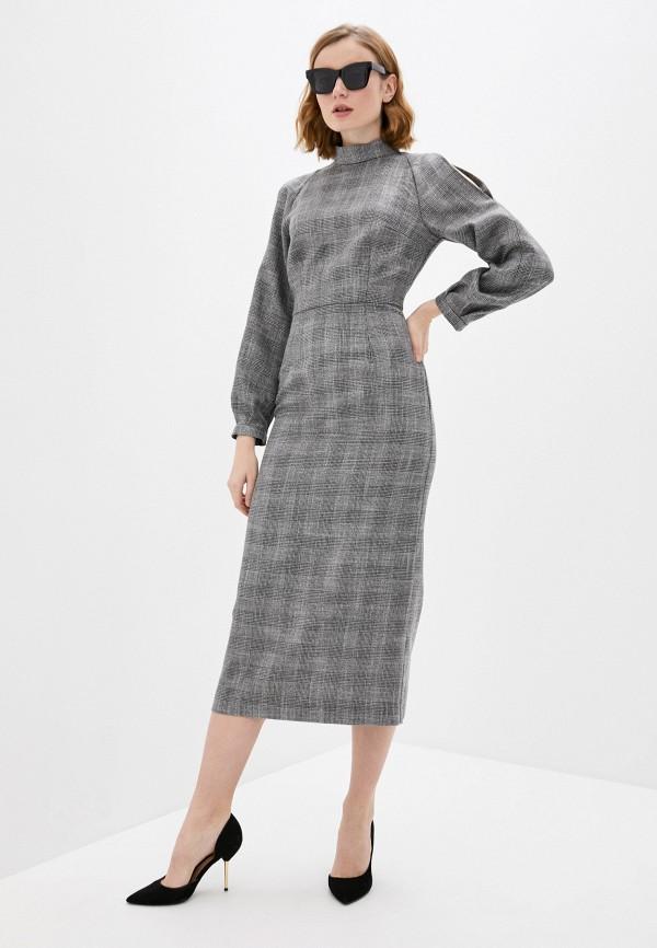 женское платье-футляр fridaymonday, серое