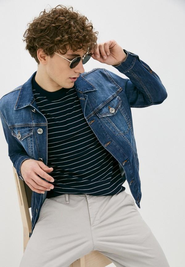 мужская джинсовые куртка eleventy, синяя