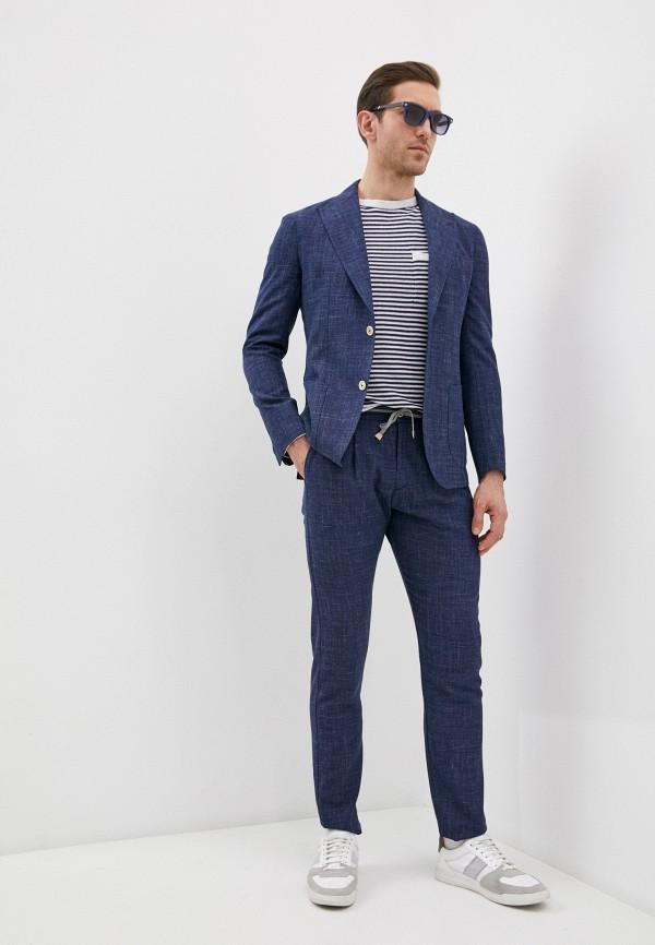мужской классические костюм eleventy, синий