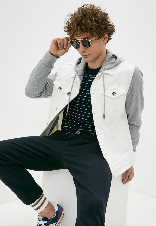 мужская джинсовые куртка eleventy, белая