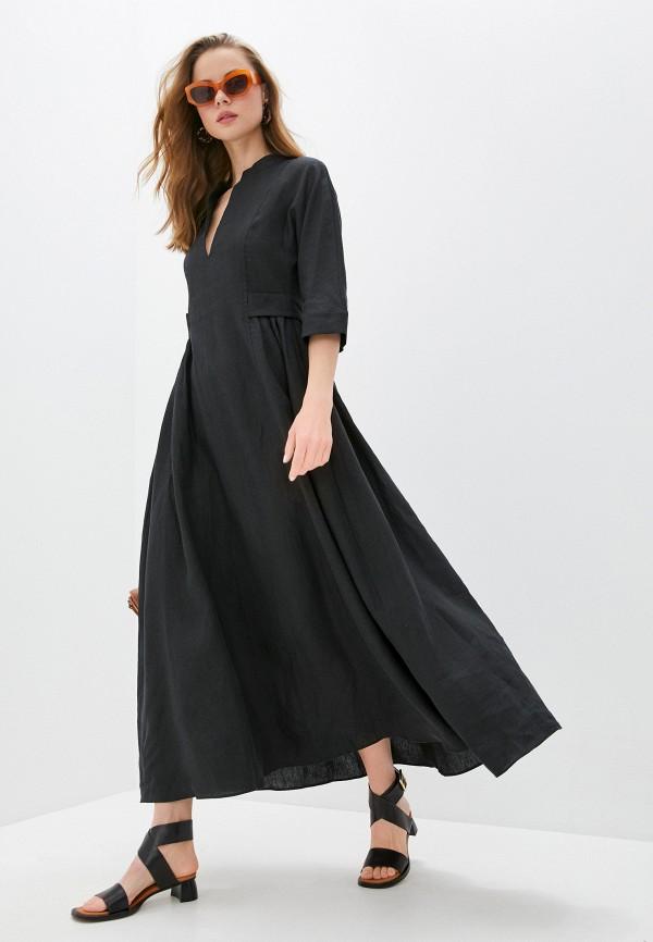 женское повседневные платье eleventy, черное
