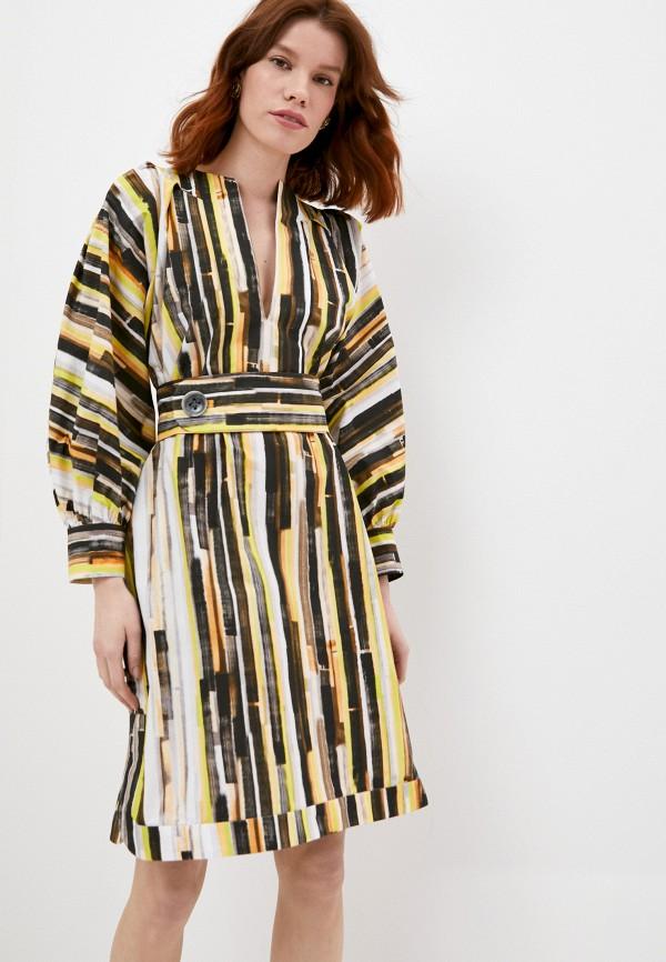 женское повседневные платье eleventy, разноцветное