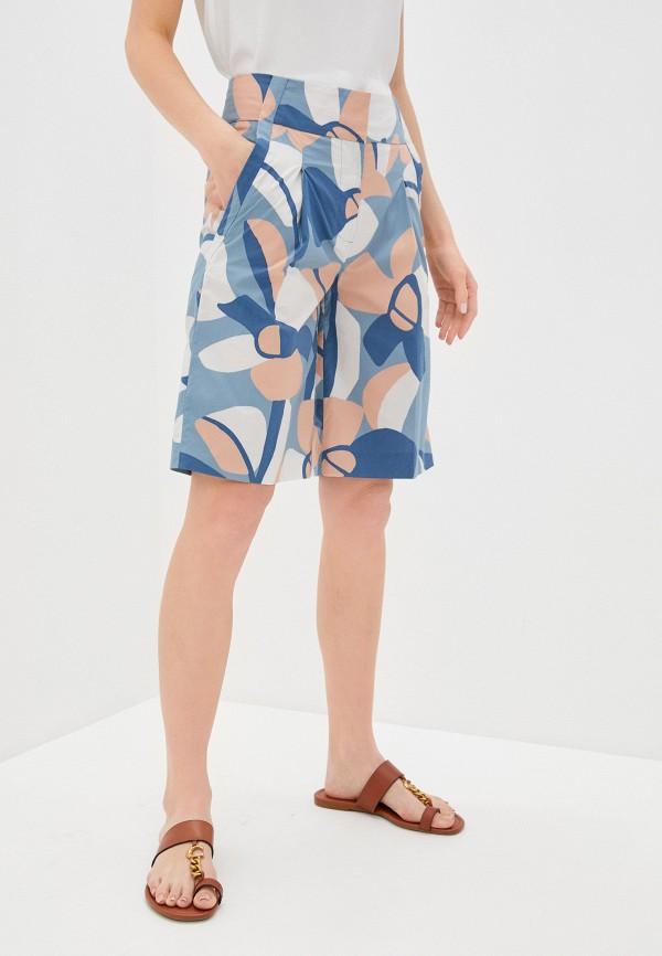 женские повседневные шорты eleventy, голубые
