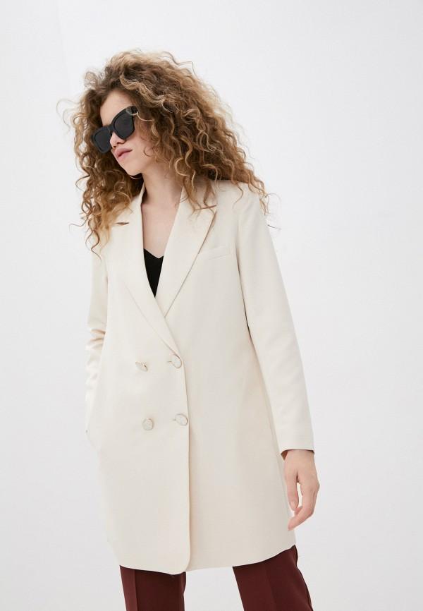 женский пиджак ichi, бежевый