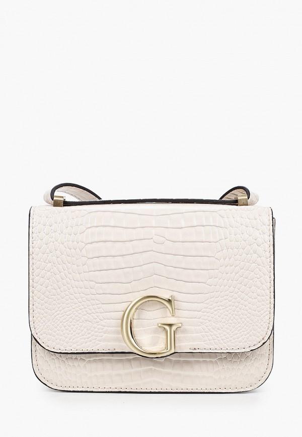 женская сумка через плечо guess, белая