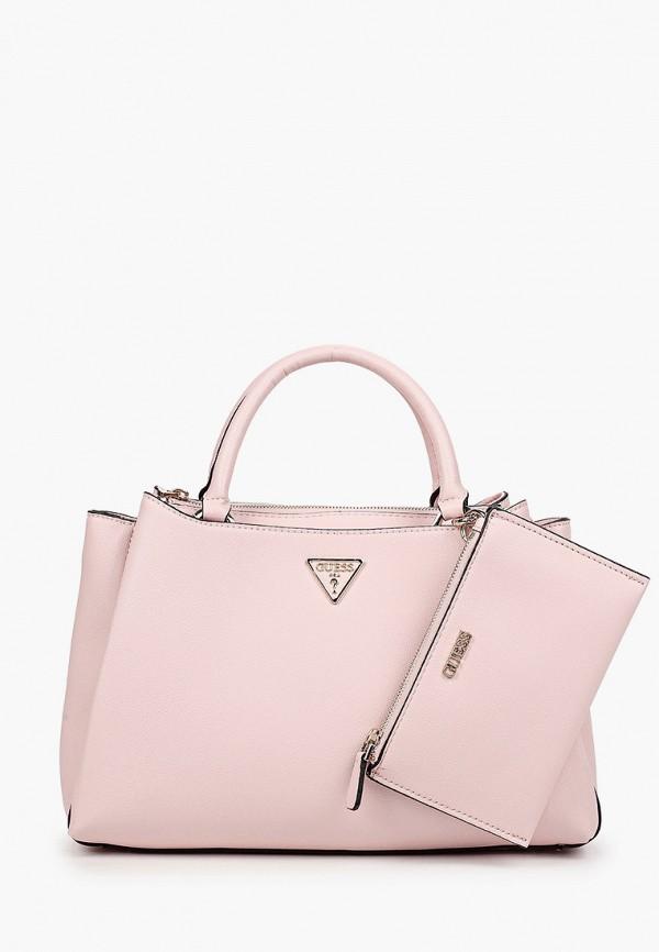 женский кошелёк с ручками guess, розовый