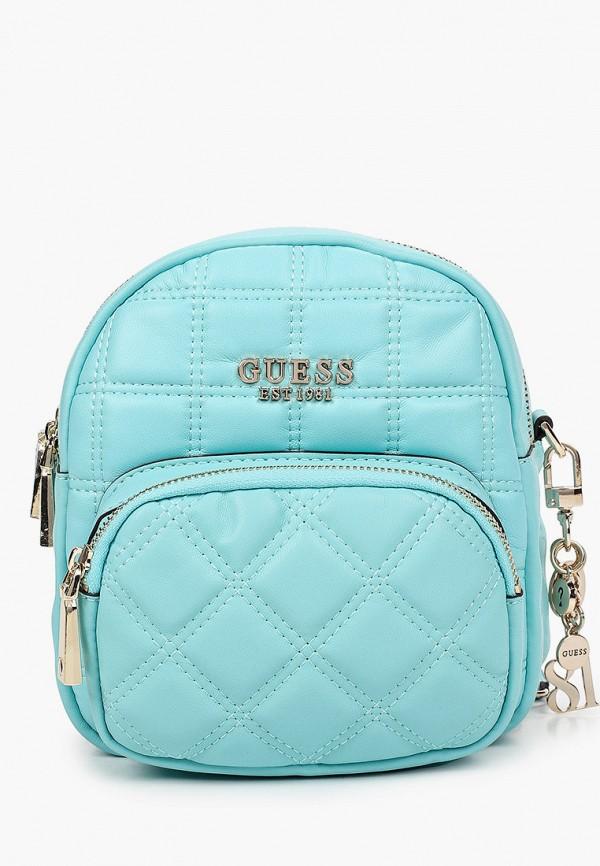 женский рюкзак guess, голубой