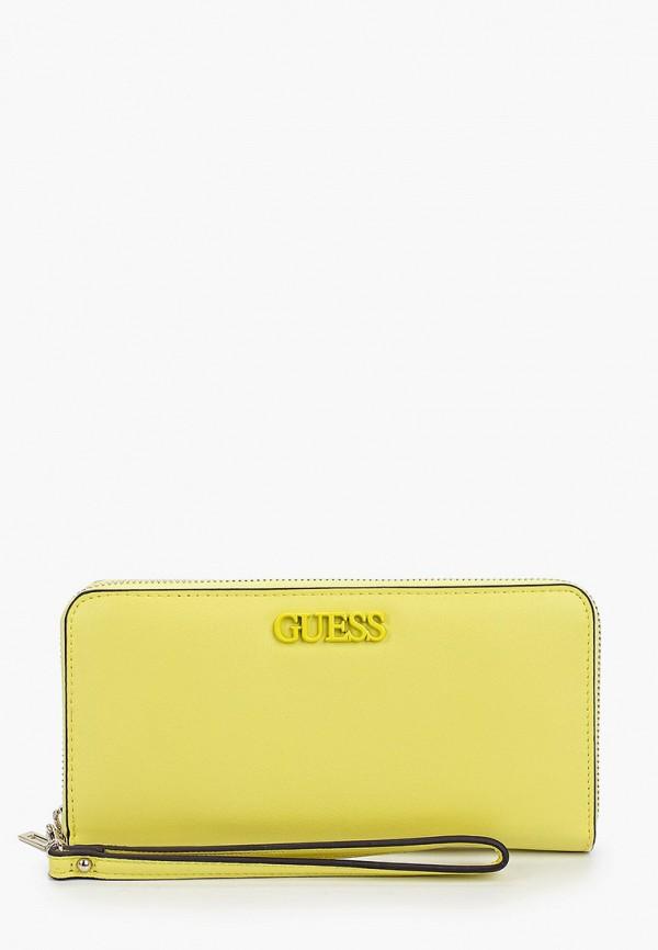 женский кошелёк guess, желтый