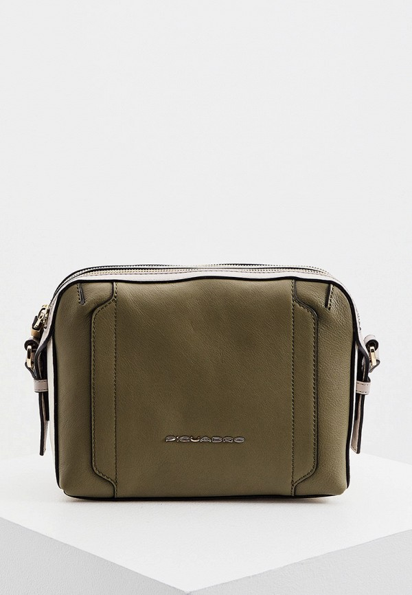 женская сумка через плечо piquadro, хаки