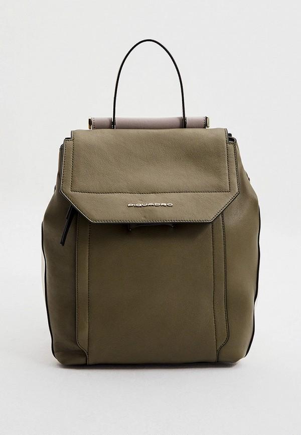 женский рюкзак piquadro, хаки