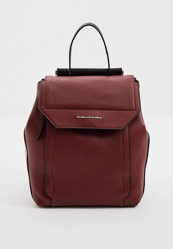 женский рюкзак piquadro, бордовый