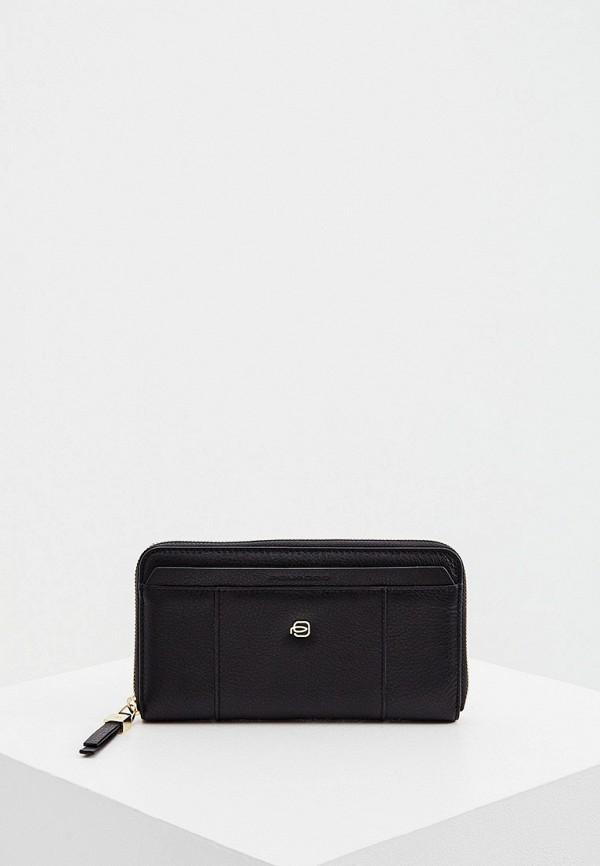 женский кошелёк piquadro, черный