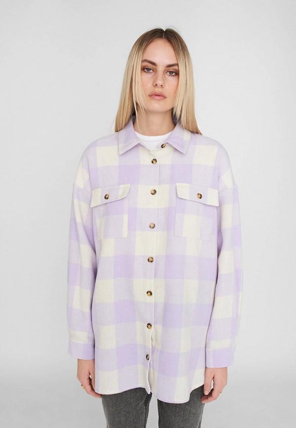 женская куртка noisy may, фиолетовая