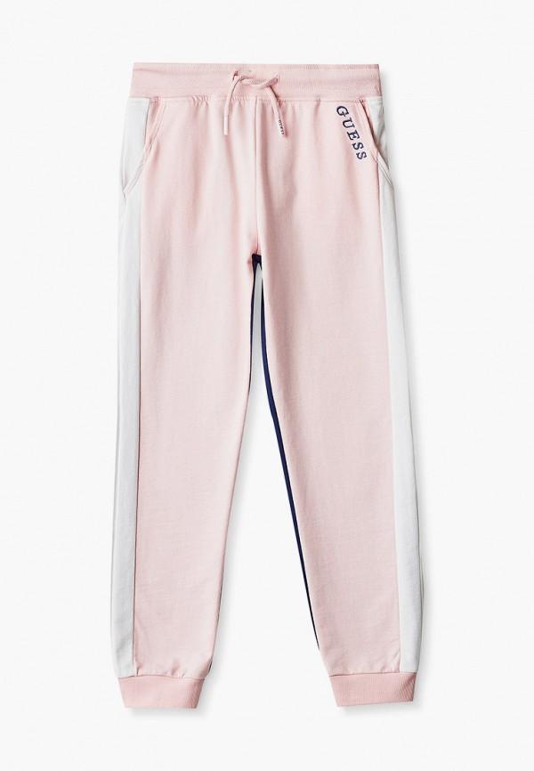 спортивные брюки guess для девочки, розовые