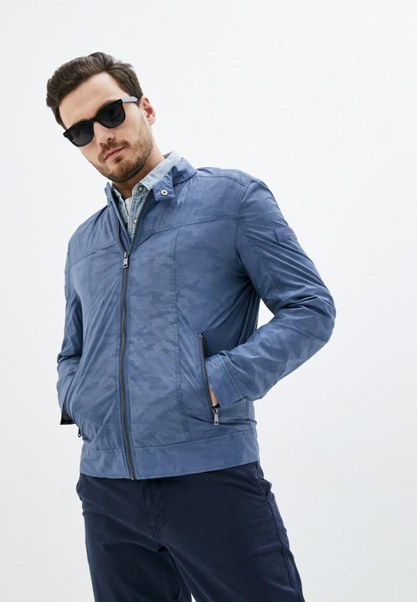мужская куртка guess, голубая
