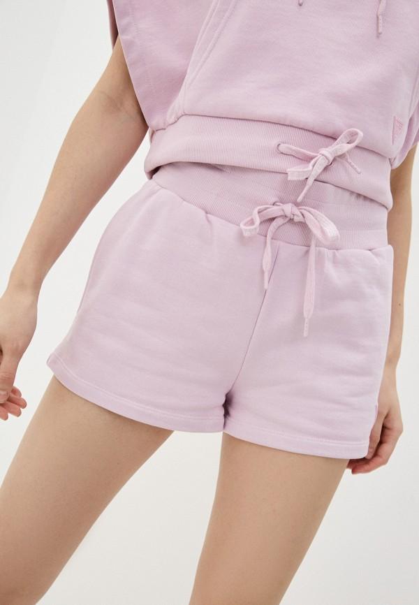 женские спортивные шорты guess, фиолетовые