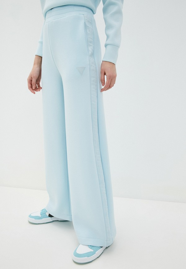 женские спортивные брюки guess, голубые