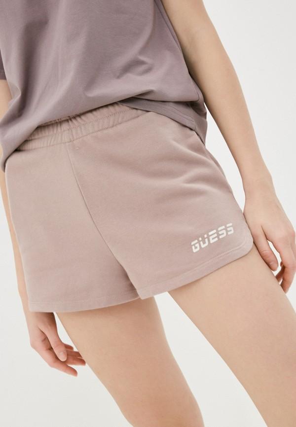женские спортивные шорты guess, розовые