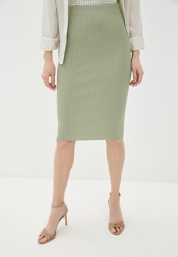 женская зауженные юбка guess, зеленая