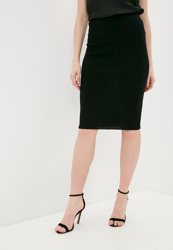 женская зауженные юбка guess, черная