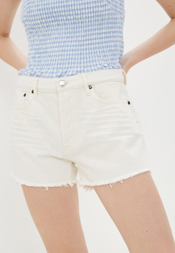 женские джинсовые шорты guess, бежевые