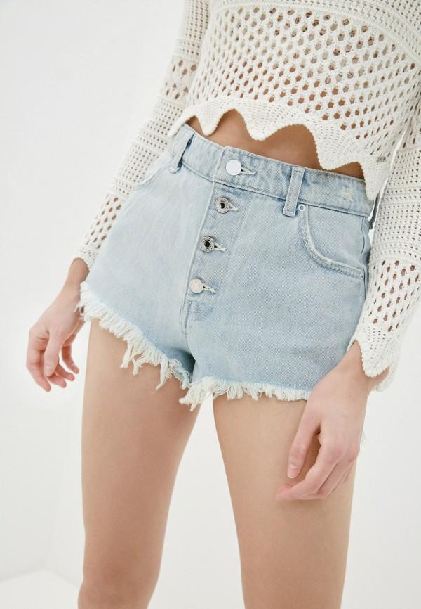 женские джинсовые шорты guess, голубые