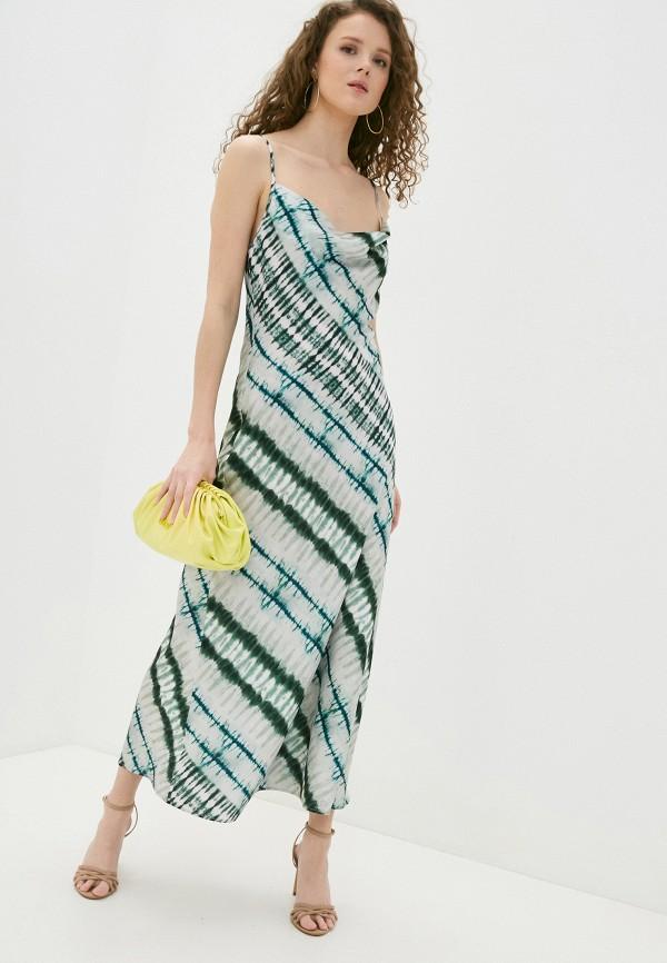 женское платье guess, зеленое
