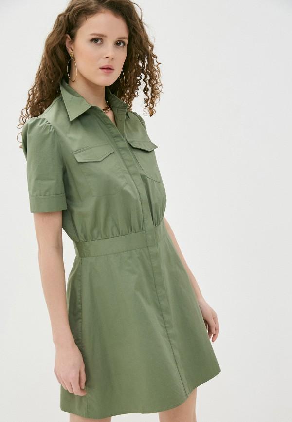 женское платье guess, хаки