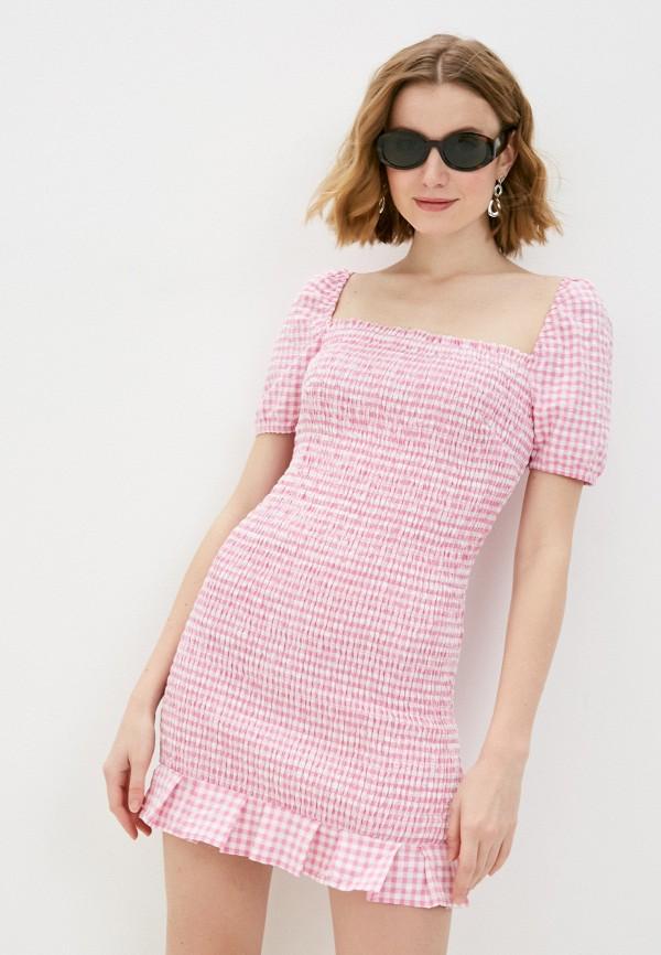 женское повседневные платье guess, розовое