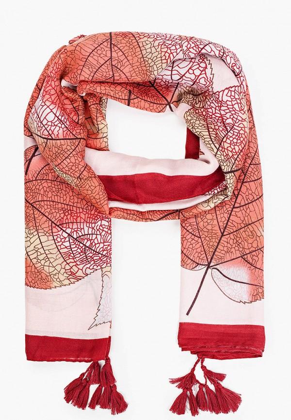 женский палантин venera, бордовый
