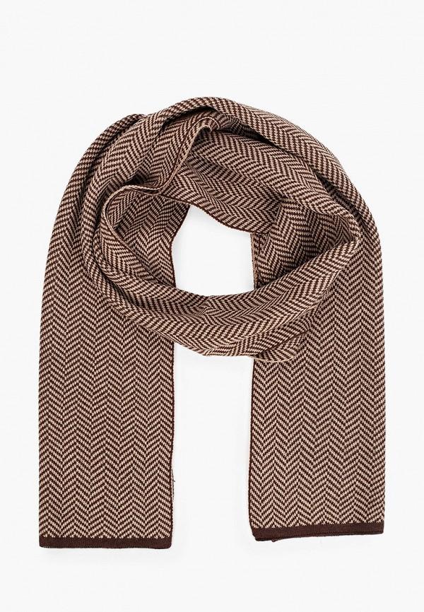 мужской шарф venera, коричневый
