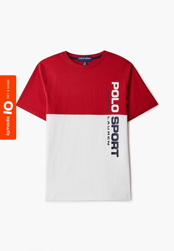 Футболка Polo Ralph Lauren красного цвета