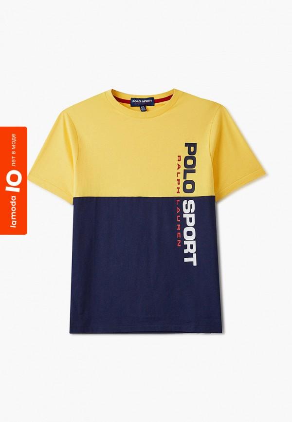 футболка с коротким рукавом polo ralph lauren для мальчика, желтая
