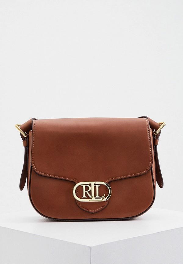 женская сумка lauren ralph lauren, коричневая