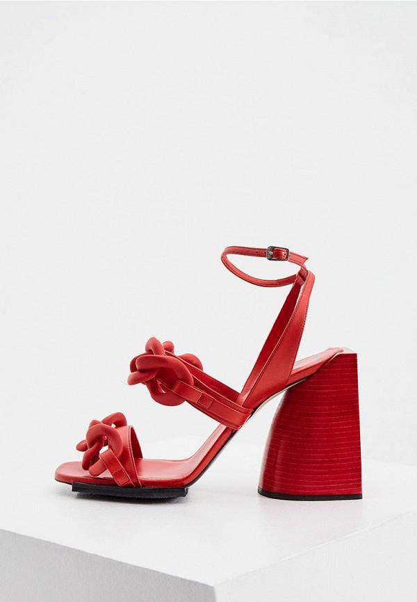 женские босоножки n21, красные
