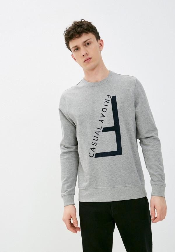 мужской свитшот casual friday by blend, серый