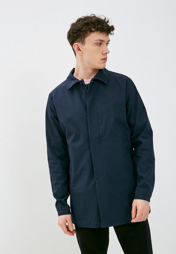 мужская куртка casual friday by blend, синяя