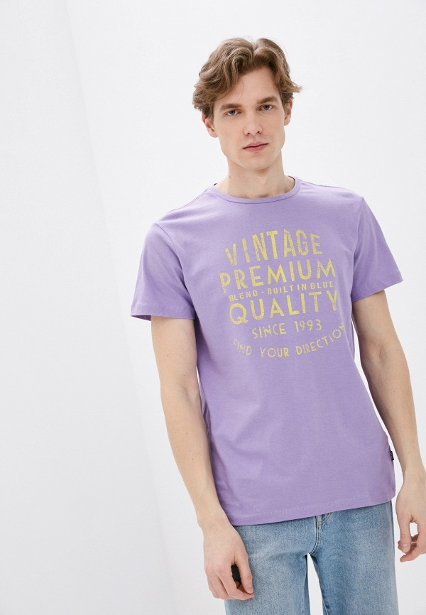 мужская футболка с коротким рукавом blend, фиолетовая